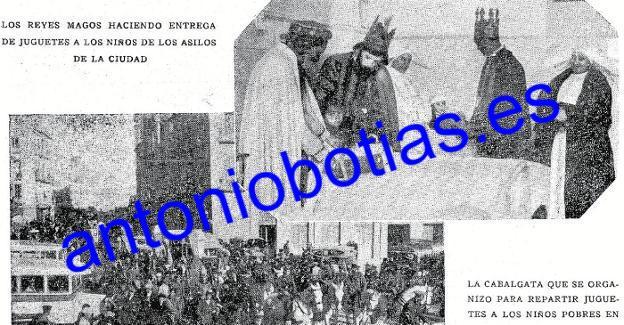 Primera fotografía de los Reyes Magos en Murcia, en 'La Verdad', en 1932.